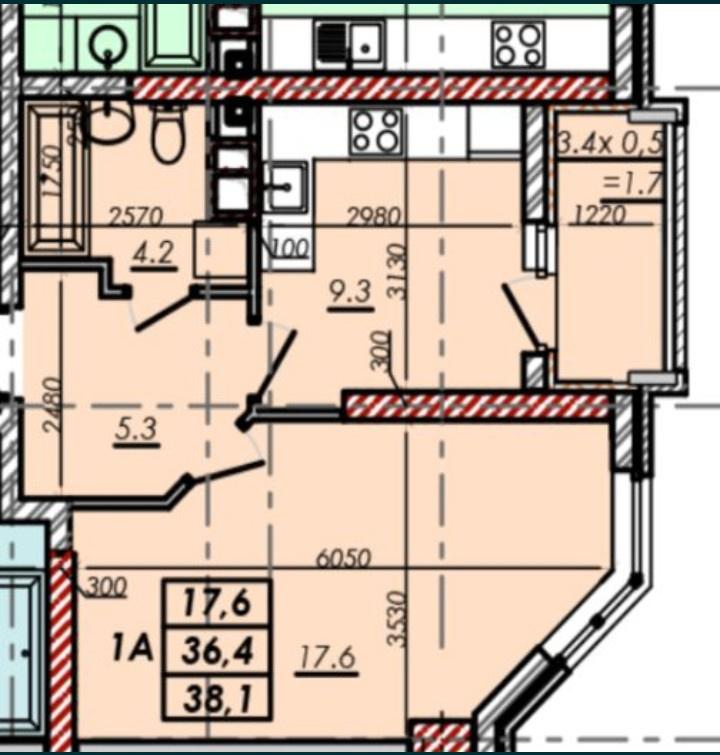 продажа однокомнатной квартиры номер A-147680 в Малиновском районе, фото номер 5